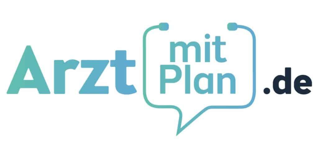 Arzt mit Plan Logo